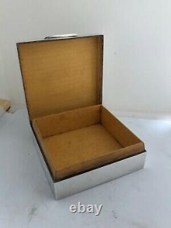George VI Asprey silver hallmarked box London 1938 cedar 9cm wide 6oz all in