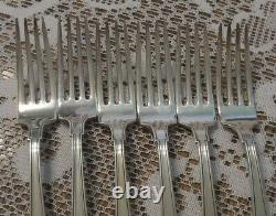 Gorham Etruscan 7 STERLING Dinner Forks, no monogram, set of 6. One Price All G1