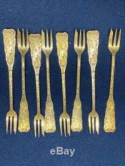 Gorham St. Cloud Sterling Silver Seafood Forks Set Of 8 All Same Mono