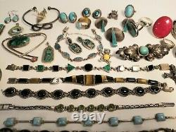 Huge 904 Grams Sterling Silver. 925 Jewelry LOT All Wearable / Not Scrap