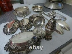 Job Lot 14 Antique Silver Items 525 grams Silver All Fully Hallmarked