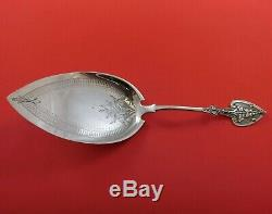 Krider and Biddle Coin Silver Pie Server All Silver BC with Leaf Handle #2 9