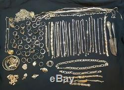 LOT STERLING SILVER 654 Total Grams All Marked 925/sterling. Antiques