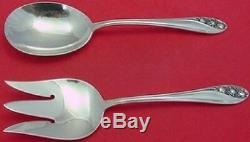 Lily of the Valley by Gorham Sterling Salad Serving Set 2pc All Sterling 9
