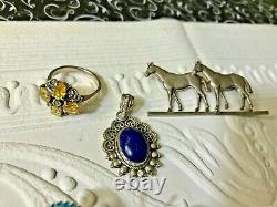 Lot of Vintage/Antique Sterling Jewelry All Nice Wearable Not Scrap 147 g