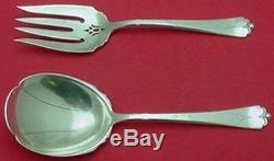 Lotus by Watson-Wallace Sterling Salad Serving Set 2pc All Sterling 7 3/4