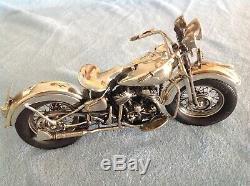 Medusa Oro All Sterling Silver 1942 Harley Davidson Motorcycle Vintage N Rare