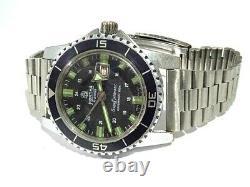 Mortima XXL Vintage Diver Men's Watch Mechanical MADE FRANCE 40 mm All Works