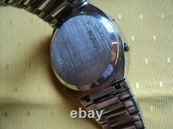 NOVUS DOT MATRIX No Pulsar vintage LED watch ALL Stainless Steel 36x40mm