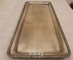 OLD EUROPE 800 SILVER TRAY All around him decorations GOOD FOR CANDLESTICKS