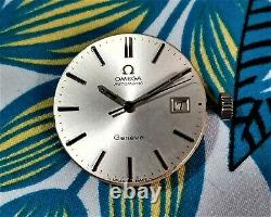 Omega Geneve Automatic Cal. 1480 Date Silver Y. 1972 All Stainless Steel