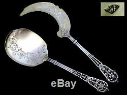 PUIFORCAT French All Sterling Silver 18k Gold Ice Cream Set 2 pc withbox Fantasy