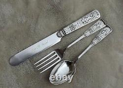 Piper by Gorham 6 5/8-7 1/8 long all Sterling youth set Ida B. Mead