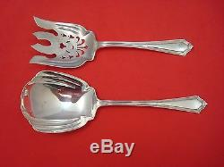 Plymouth by Gorham Sterling Salad Serving Set 2pc Flat Handle All Sterling 9