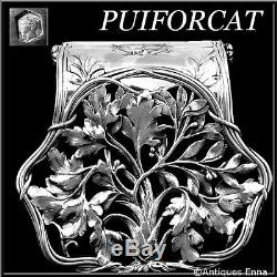 Puiforcat Fabulous French All Sterling Silver Asparagus/Sandwiches Grip