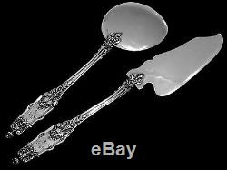 Puiforcat Fabulous French All Sterling Silver Ice Cream Set 2 pc Acanthus