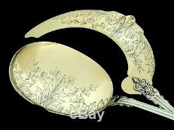 Puiforcat Top French All Sterling Silver 18k Gold Ice Cream Set 2 pc Acanthus