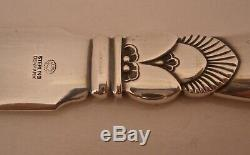 Rare Georg Jensen Hollow Handle Cactus Patter All Sterling 9 1/4 Letter Opener