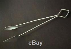 Rare HUGE 10.5 Vintage ALL Sterling Silver 925 Asparagus Server TongsSUPERB