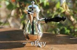 Rare Miniature coffee set 3 pcs French all sterling silver 950/1000 Circa 1950