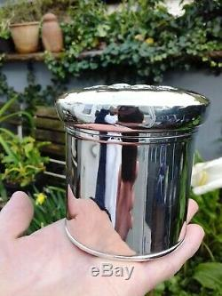 Reynolds Angels 177gr All Solid Silver 1913 Synyer & Beddoes Vanity Pot