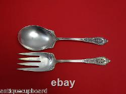 Rose Point by Wallace Sterling Silver Salad Serving Set All Sterling 9