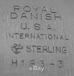 Royal Danish by International All Sterling Rectangular Vegetable Bowl No. H183-3