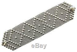SG Liquid Metal Antique Silver Mesh Cuff Bracelet Sergio Gutierrez B10 All SIZES