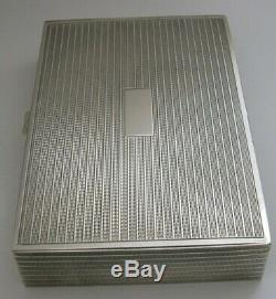 STUNNING GOOD SIZED ALL SOLID STERLING SILVER CIGAR DESK BOX 396g INDIAN c1940