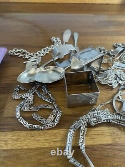 Scrap /Antique Sterling Silver inc medal napkin rings etc all hallmarked 514g