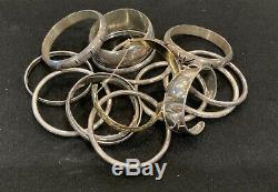 Scrap (or polish & wear) Sterling Silver Total 253 grams All Braclets