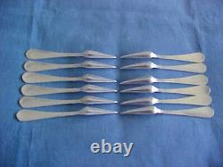 Set Lot 12 Gorham All Sterling Nut Picks Eva 1870 Engraved Dozen Silver Nutpicks