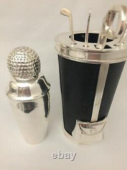 Silver Plate Golf cocktail shaker set. All sensible offers considered