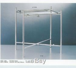 Silver Stand Collapsible, All Metal, Plain only, Tray not included