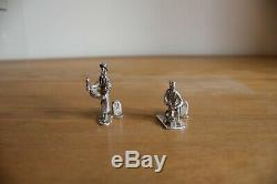 Solid Silver Hallmarked T C Jarvis Victorian Figure Set all 18 pieces