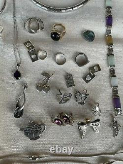 Sterling Silver Jewelry Lot -All Good 461 Grams Total Weight. NOT SCRAP