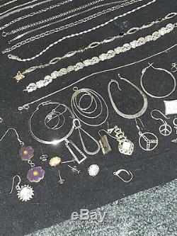 Sterling Silver Lot 868 Grams All Wearable & Tested Signed Jewelry Not Scrap