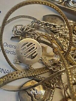 Sterling Silver Scrap Lot 8.5 ounces 925 Silver estate lot all marked