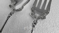 Sterling WALLACE Large Salad Serving Set VIOLET 1904 Lovely! All Silver