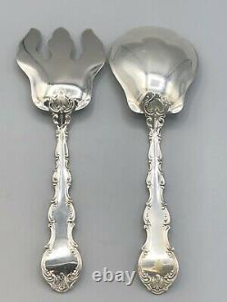 Strasbourg by Gorham Sterling Silver 2 piece all silver Salad Set 8 5/8