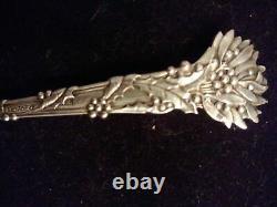 Tiffany Sterling Sardine Fork All-Silver Heavy 32g HOLLY Pattern