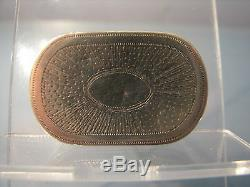 Unique Masonic George III 1799 silver vinaigrette all seeing eye