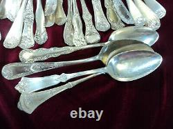 Victorian Silverplate SERVING SPOONS Craft Flatware Lot of 44 ALL SINGLES