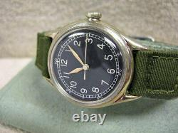 Vintage Bulova WW2 Type A-II Military Watch with Ord. #'s, All Original, RUNNING