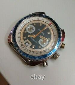 Vintage Herma Le Bourget Chronograph withDate Valjoux 7734 All Functions Working