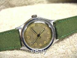 Vintage Seth Thomas wrist Watch All Orig. Military Style, Running FIne