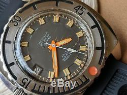 Vintage Silver Extra 3000 Feet Diver withPristine Dial, Patina, Massive All SS Case