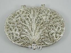 Vintage Sterling Silver All Filigree Ornate Rosary Trinket Box