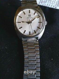 Vintage ZENITH Surf- 28800 Stainless Steel all -Cal 2562 -17jew