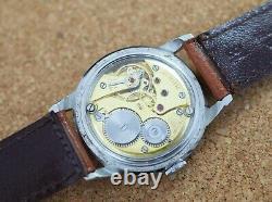 Vintage men's Zenith manual wind 35mm all steel original dust cover rare watch